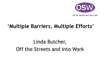 ' Multiple Barriers, Multiple Efforts'