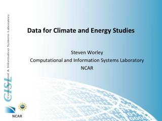 Data for Climate and Energy Studies