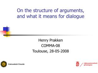On the structure of arguments,  and what it means for dialogue