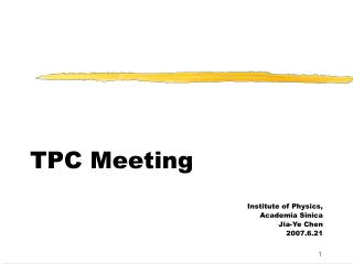 TPC Meeting