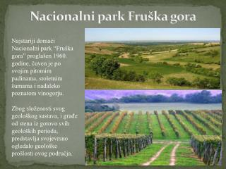 Nacionalni park Fru ška gora