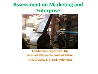 Assessment on Marketing and Enterprise