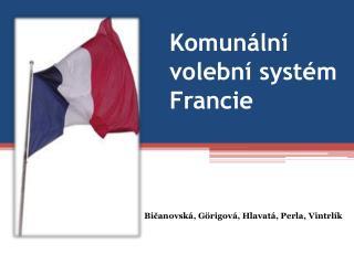 Komunální volební systém Francie