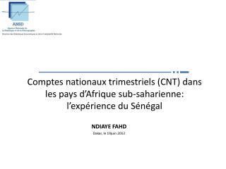 NDIAYE FAHD Dakar, le 19juin 2012