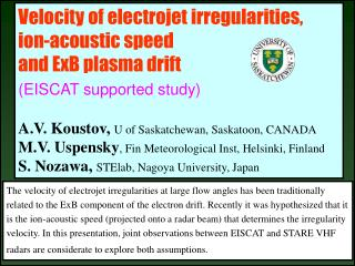 Velocity of electrojet irregularities,  ion-acoustic speed  and ExB plasma drift