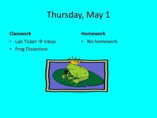 Thursday, May 1