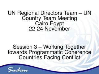Strategic Frameworks for Joint Programming in Sudan