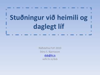 Stuðningur  við heimili og daglegt líf
