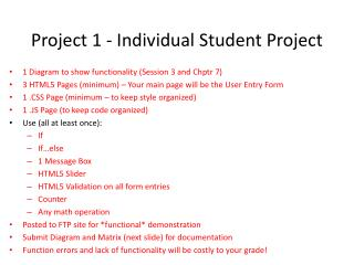 Project 1 - Individual Student Project