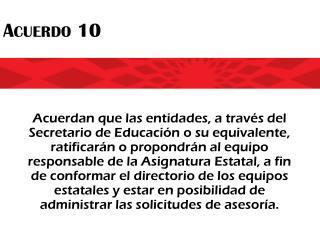 Acuerdo 10