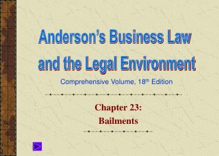 Chapter 23: Bailments
