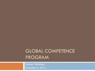 Global Competence Program