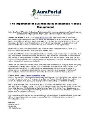 The Importance of Business Rules in Business Process Managem