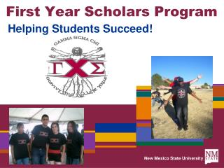 First Year Scholars Program