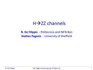 H  ZZ  channels