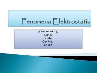 Fenomena Elektrostatis