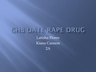 GHB Date Rape Drug
