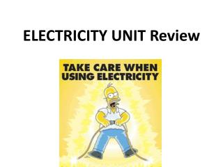 ELECTRICITY UNIT Review