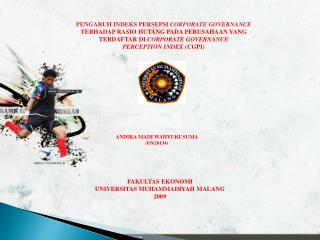 PENGARUH INDEKS PERSEPSI  CORPORATE GOVERNANCE TERHADAP RASIO HUTANG PADA PERUSAHAAN YANG
