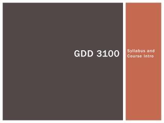 GDD 3100