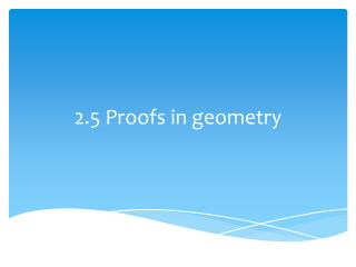 2.5 Proofs in geometry