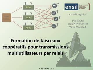 Formation de faisceaux coopératifs pour transmissions multiutilisateurs par relais