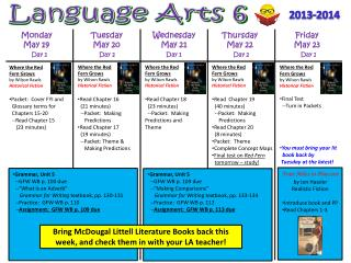 Language Arts 6