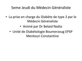 5eme Jeudi du Médecin Généraliste