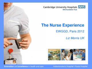 The Nurse Experience  EWGGD, Paris 2012 Liz Morris UK