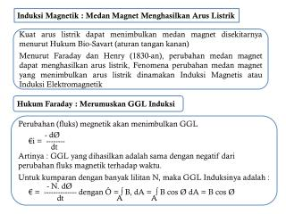 Induksi Magnetik : Medan Magnet Menghasilkan Arus Listrik