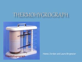 Thermohygrograph