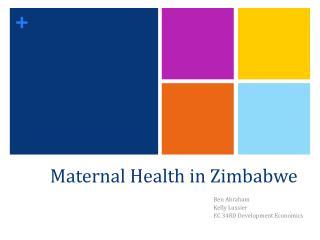 Maternal Health in Zimbabwe
