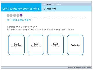 숭실사이버대학교 /  브랜드 디자인  / CHU HYE YOUNG