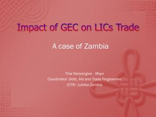Impact of GEC on LICs Trade