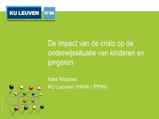 De impact van de crisis op de  onderwijssituatie  van  kinderen  en  jongeren