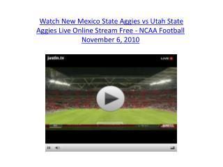 Watch New Mexico State Aggies vs Utah State Aggies Live Onli