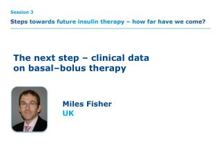 The next step – clinical data on basal–bolus therapy