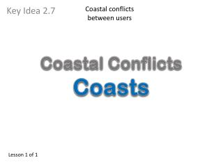 Coastal conflicts between users