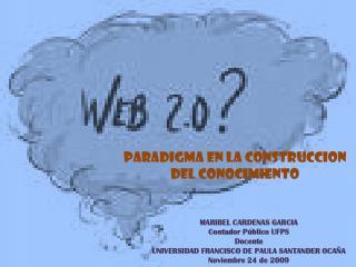 MARIBEL CARDENAS GARCIA Contador Público UFPS Docente