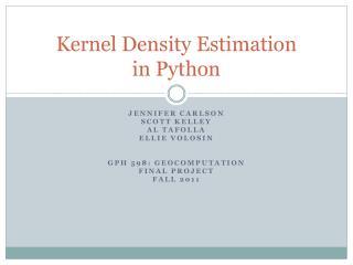 Kernel Density Estimation in Python