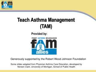 Teach Asthma Management  TAM
