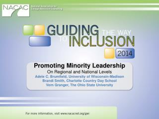 Promoting Minority Leadership On Regional and National Levels