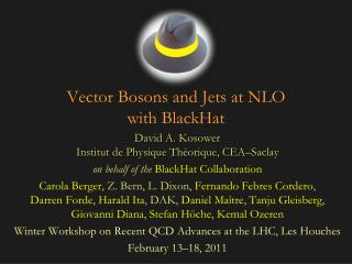 Vector Bosons and Jets at NLO with  BlackHat