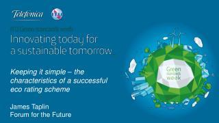 James Taplin Forum  for the Future