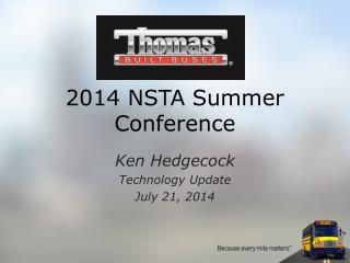 2014 NSTA Summer Conference