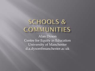 Schools & communities
