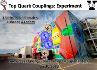 Top Quark Couplings: Experiment