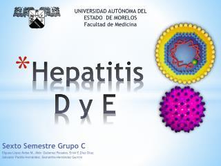Hepatitis  D y E