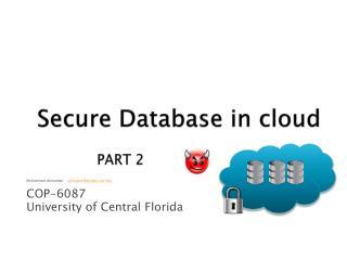 Secure Database in cloud