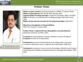 Profesor Titular.